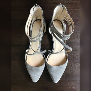 Jessica Simpson Shoes - Jessica Simpson Suede Pointed Ballet Sandals